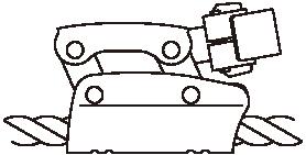 右利き用ロープ下側通過(標準)