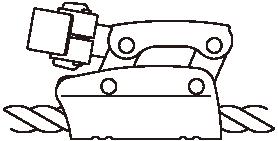 左利き用ロープ下側通過(RC型)