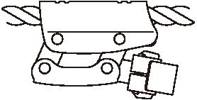 右利き用ロープ上側通過(R型)