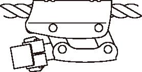 左利き用ロープ上側通過(C型)