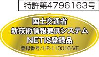 国土交通省新技術情報提供システムNETIS登録品