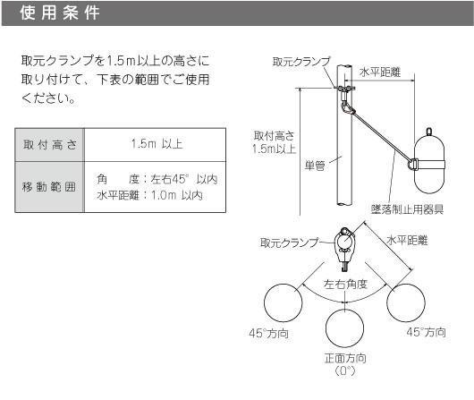 取元クランプの使用条件